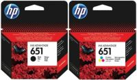 Kartuša HP 651 komplet črna/black (C2P10AE) + barvna (C2P11AE) komplet original PRIHRANITE!