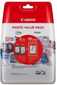 Kartuša Canon PG-545XL/CL-546XL komplet - original + GRATIS 50 listov fotopapirja