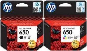 Kartuša HP 650 komplet črna/black (CZ101AE) + barvna (CZ102AE) - original