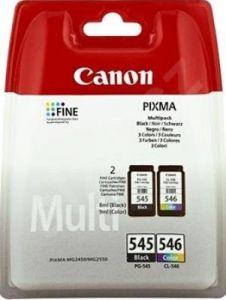 Kartuša Canon PG-545 črna/black + CL-546 barvna komplet - original