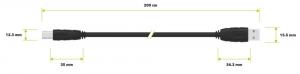 USB kabel USB AB 2m